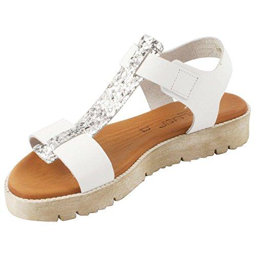 Exclusif ParisExclusif Paris Eulalie, Chaussures femme Sandales - Sandalias de Vestir Mujer Blanco - blanco