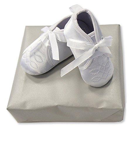 Baby Boy bautizo ocasión zapatos blanco blanco blanco Talla:6/12 Months
