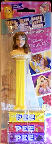 Princess Belle Pez Dispenser in Blister Card Packaging with 3 Rolls Pez Candy - 2014 Release