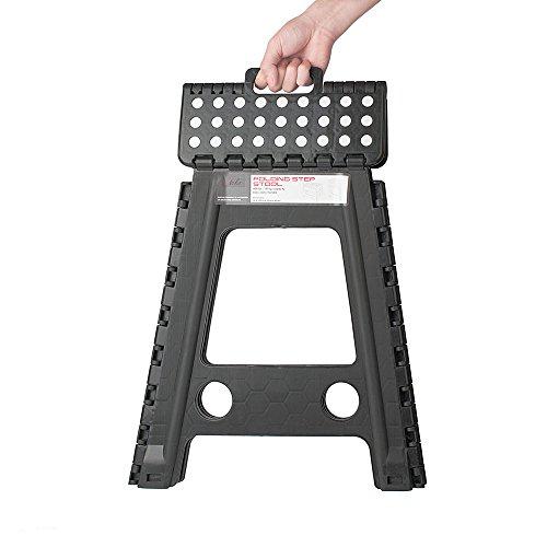 Acko Black 18 Inches Non Slip Folding Step Stool For Kids