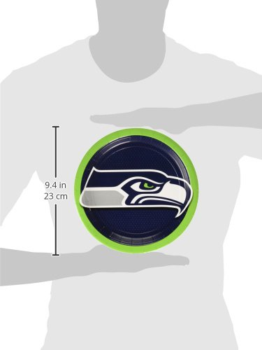 Amscan ''Seattle Seahawks Collection'' 9'' Round, Party Plates, 48 Ct. by Amscan (Image #2)