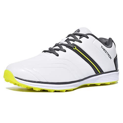 Thestron Zapatos de golf para hombre Zapatillas de deporte sin espigas Zapatillas de entrenamiento para caminar ...