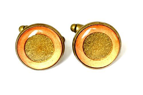 Bronze and Copper Cufflinks