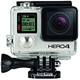 GoPro CHDHX-401-FR  HERO4 Black Edition Adventure Videocamera 12 MP, 4K/30 fps, 1080p/120 fps, Wi-Fi, Bluetooth, Versione Inglese/Francese