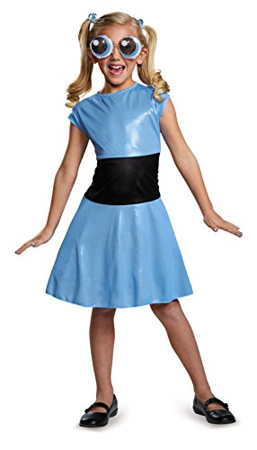[Bubbles Classic Powerpuff Girls Cartoon Network Costume, Medium/7-8] (Powerpuff Girls Halloween Costumes)