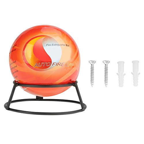 Akozon Fire Extinguisher Ball with Mount Automatic Easy Throw Stop Fire Loss Tool Safety Fire Suppression Device 3~5S Extinguishing (0.5kg)