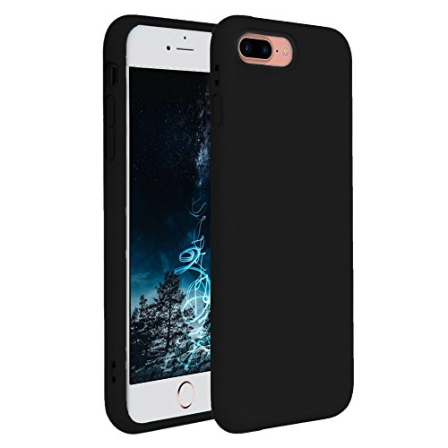 iPhone 7 Plus Case, iPhone 8 Plus Case, Pelipop Colorful Slim Fit Anti-Scratch Soft TPU Gel Silicone Skin Frosted Protective iPhone Cover for iPhone 7 Plus/iPhone 8 Plus(Black)