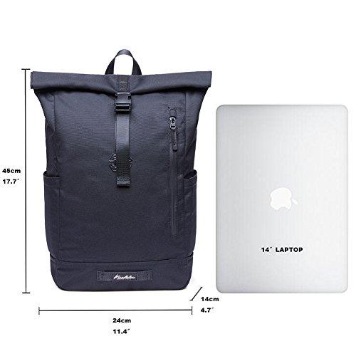 KAUKKO Casual Daypacks&multipurpose backpacks,Outdoor Backpack,Travel Casual Rucksack,Laptop Backpack Fits 15'' (04black) by KAUKKO (Image #3)