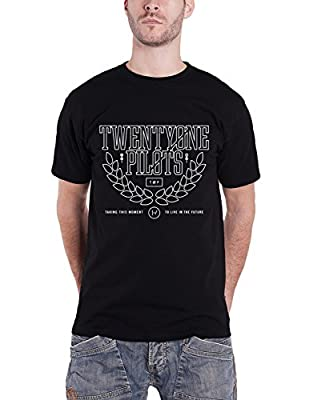 21 Twenty One Pilots Mens T Shirt Black Clique Leaf Crest Official