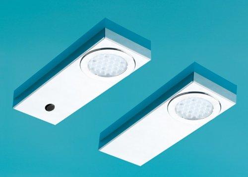 Naber, Run 1 LED Set-2 S mit Schalter, Edelstahl, 3200 K warmweiß