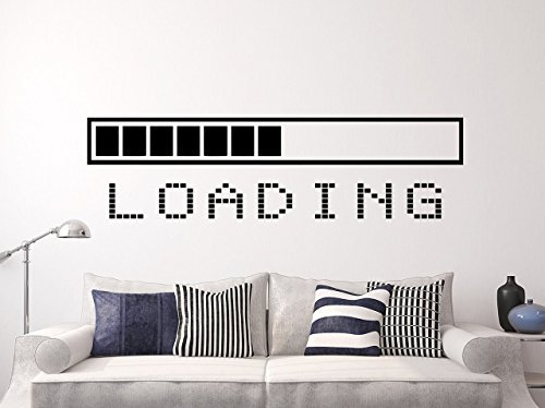 Loading Bar Wall Decal Vinyl Sticker Decals Gaming Video Game Gamer Gifts Loading Bar Kids Decor Boy Room Decor Bedroom Men Gift Dorm x139 by WallxDecal