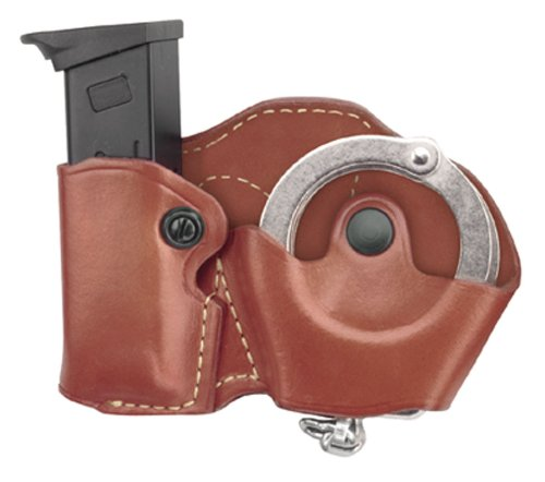 Gould & Goodrich 821-4 Gold Line Cuff Case/Mag Case Combo (Chestnut Brown) Fits BERETTA Cougar (all); GLOCK 17, 19, 20, 21, 22, 23, 26, 27, 29, 30, 31, 32, 33, 34, 35, 36, 39; H&K USP 9, .357,.40,.45 (all); KIMBER Polymer;  PARA-ORDNANCE P10, P12, P13, P14, P15, P16 (all); S&W Sigma (all EXCEPT .380), SW M&P .45; Springfield XD4, .40, .45, .357 ()