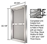 Satin Anodized 20-3/4'' x 30-1/8'' Bel-Air ''Plaza'' Combination Door Unit With Obscure Tempered Glass and Mill Frame for 1-3/8'' 2-6 Slab Door