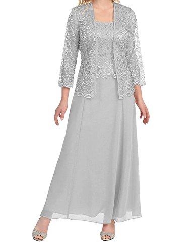 para Stillluxury mujer Long Silver Vestido 7qHqwn5US