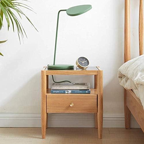 安定した ウッドベースのベッドサイドテーブルベッドサイドテーブル、耐久性に優れ、ベッドルームリビングルームに適した、等 ファッション
