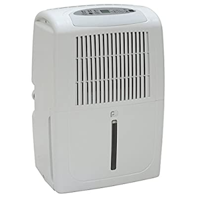 Perfect Aire 1PED50S 50 Pint Energy Star Dehumidifier with Small Cabinet, 3,000 Sq. Ft. Coverage
