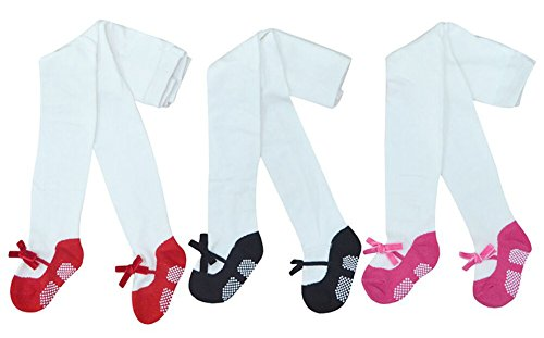 Collager Infant Toddler 0-3T Stocks Legging Pants Tights 3 Pack of Soft Warm Stockings Baby Girls (1-2 Years)