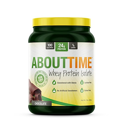 About Time Whey Isolate Protein, Non-GMO, All Natural, Lactose/Gluten Free, 24g of Protein Per Serving (Chocolate - 2 Pounds) by About Time