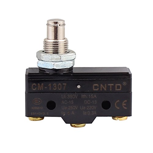 Uxcell a15113000ux2352 AC 380V 15A SPDT Momentary High Push Plunger Micro Switch Micro Switch