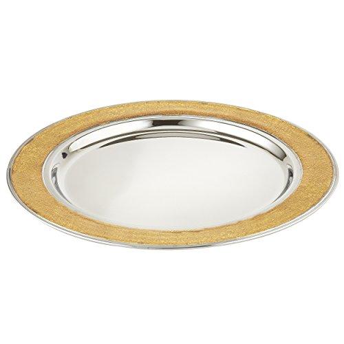 - Elegance Foil Charger Plate, Gold