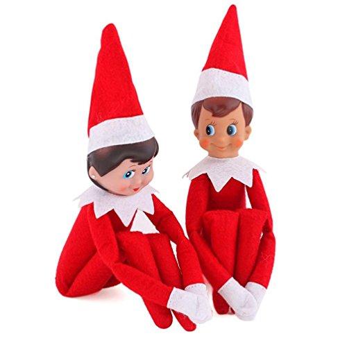 Creazy Christmas Elf on The Shelf Plush Dolls Girl Boy Figure Christmas Toys Gifts (Christmas Elf Toy)