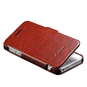ZL Vintage PU Leather Case for iPhone 5S (Assorted Colors) , Rose