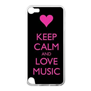 Keep Calm And Love Design Case for IPod Touch 5 TPU (Laser Technology) Style 04