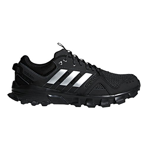 adidas Men's Rockadia m Trail Running Shoe, Core Black/Matte Silver/Carbon, 14 M US