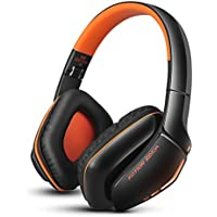 KOTION EACH B3506 V4.1 Bluetooth Gaming Headphones, Wireless Gaming Headset with Noise Isolation and Foldable Function for PS4 PC Computer Laptop and Smartphone (Orange)