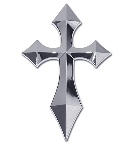 Elektroplate Chrome Cross Pointed Auto Emblem