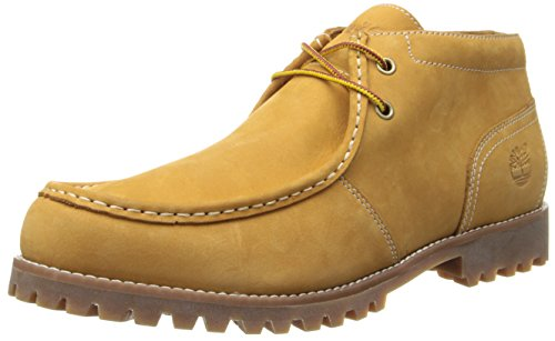Timberland Men's Oakwell Moc Toe Chukka Chukka Boot,Wheat Nubuck,11.5 M US