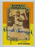 Buck Leonard AUTOGRAPH d.97 TCMA Baseball Immortals