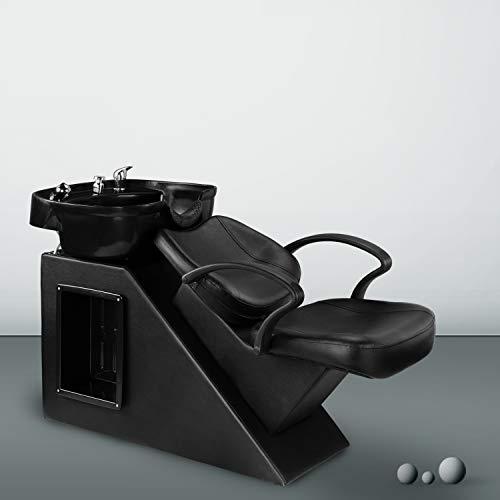 OVASTLKUY Shampoo Barber Backwash Chair Salon&Spa Barber Chair ABS Plastic Bowl Sink Spa Equipment