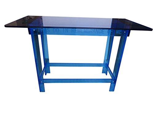 Fixture Displays Blue Tinted Plexiglass Acrylic Church Communion Christian Table Desk 14309 14309! by FixtureDisplays