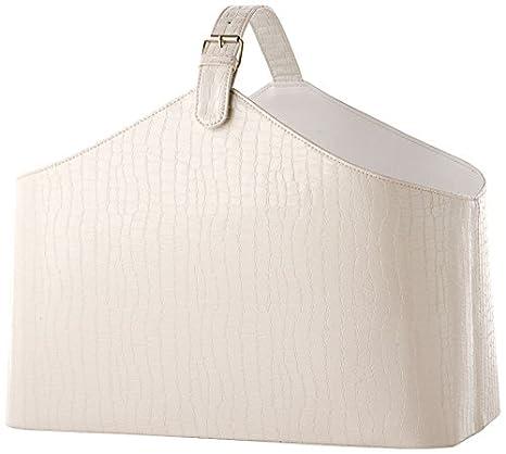 Portariviste Da Salotto.Brandani Portariviste Salotto Bianco Eco Pelle 57717