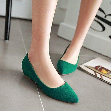 Cómodo y elegante soporte de zapatos de las mujeres primavera verano otoño al aire libre de piel sintética oficina y carrera Casual tacón bajo otros negro verde rojo beige negro