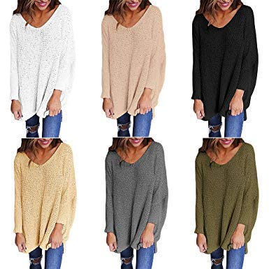 Tricot Col Pull V Casual Femme Dokotoo 4nYXE