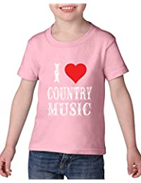 I Love Country Music Festival Music Fan Toddler Kids Shirts