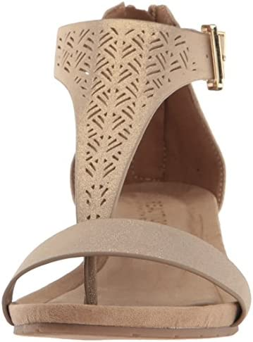 Kenneth Cole Reaction Women's Gal 3 Perf Low Wedge T Strap