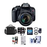 Cheap Canon EOS Rebel T7i DSLR with EF-S 18-135mm f/3.5-5.6 IS STM Lens – Bundle with Camera Case, 16GB SDHC Card, 67mm Filter Kit, Screen Protector, Cleaning Kit, Memory Wallet, Software Package