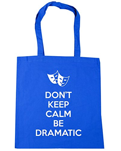 Blue Calm Gym Don't Shopping x38cm 42cm Dramatic 10 Be Cornflower litres Bag Beach Keep Tote HippoWarehouse wZTgq