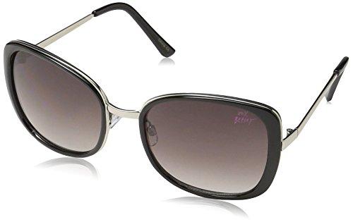Betsey Johnson Women's Nina Square Sunglasses, Black, 60 - Betsey Case Johnson Sunglasses