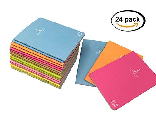 Yansanido Pack of 24 Pocket Pal Super Mini Journals Portable Steno Note Books Mini NoteBooks (24pcs Random (Cheap Paper Notebooks)