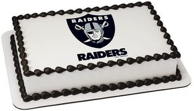 Amazon Com Oakland Raiders Licensed Edible Cake Topper 4579 Kitchen Dining