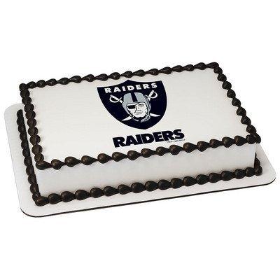 Amazoncom Oakland Raiders Licensed Edible Cake Topper 4579