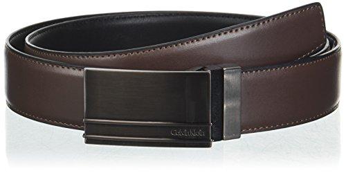 Calvin Klein Men's 32MM Reversible with Stitched F.Edge, Dark Chocolate, 36 by Calvin Klein