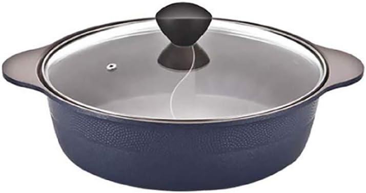 Cookin IH Shabu Shabu Divider Hot Pot, Ceramic Coating, Double Sauce Pot, 11 Inch