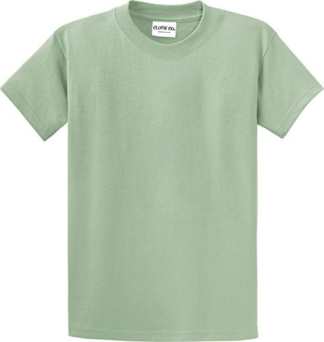 Heavyweight Tee 100% Cotton (Clothe Co. Mens Heavyweight 100% Cotton Short Sleeve T-Shirt, Stonewashed Green, 3XL)