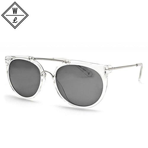 WONDERLAND (ワンダーランド) サングラス STATELINE - Clear Gel x Silver x Grey   B01MT7OZ96