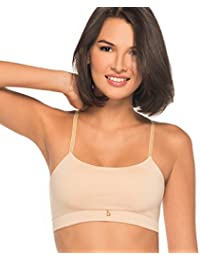 Womens Silky Like Seamless Built-in Bralette